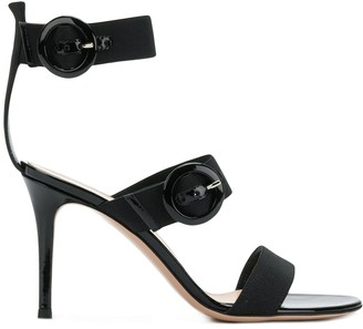 Gianvito Rossi Buckled Cross Strap Sandals