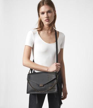 AllSaints Nina Stud Leather Shoulder Bag