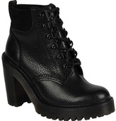 Dr. Martens Women's Persephone Fur Lined 6 Eye Padded Collar Boot