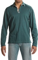 True Grit Slub Jersey Vintage Polo Shirt - Long Sleeve (For Men)