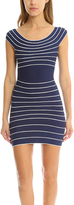 Herve Leger Marisol Stripe Dress