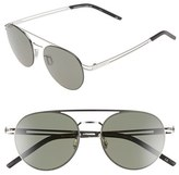 Le Specs Women's 'Spartan' 51Mm Aviator Sunglasses - Silver