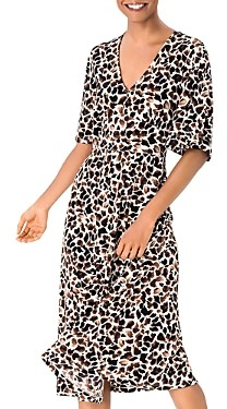 Leota Zoe Giraffe Print A-Line Dress