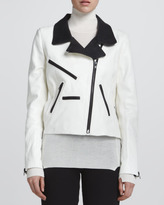 A.L.C. Theo Two-Tone Leather Jacket