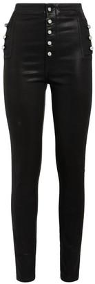 J Brand Natasha Crystal-Button Skinny Jeans