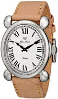 "Glam Rock Women's GR28005 ""Vintage Glam"" Stainless Steel Watch with Beige Leather Band"
