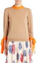 MSGM Tie Detail Knit Wool Top