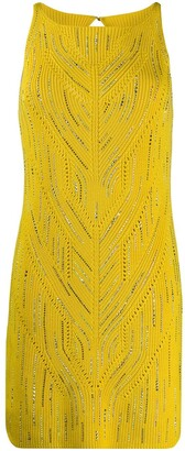 Ermanno Scervino Embellished Crochet Dress
