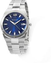 Bulova Men's Stainless Steel Blue Dial Dress Watch