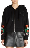 Maje Women's Floral Embroidered Hoodie