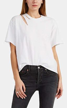 Amiri Women's Slash Cotton T-Shirt - White
