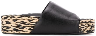 Simon Miller platform raffia sole sandals