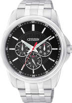 JCPenney Citizen Quartz Citizen Mens Black Dial Stainless Steel Watch AG8340-58E