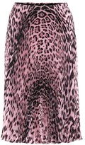 Roberto Cavalli Pleated leopard-print skirt