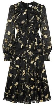 Erdem Carwen Embroidered Silk-organza Midi Dress