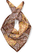 Milana Silk Twill With Hemmed Vintage Paisley Scarf