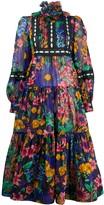 Marc Jacobs floral print ribbon trim midi dress
