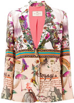 Etro nature print blazer - women - Silk/Acetate - 42