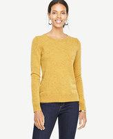 Ann Taylor Cashmere Flecked Crew Neck Sweater