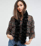 My Accessories Full Pom Scarf In Black