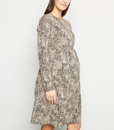 New Look Maternity Leopard Print Smock Dress