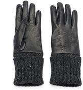 Women's Igloos Cable-Knit Leather Gloves