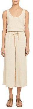 Theory Linen Cropped Pants