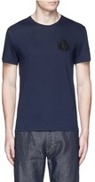 Alexander McQueen Military skull embroidery T-shirt