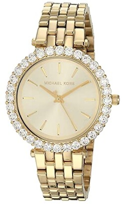 Michael Kors Darci Three-Hand Stainless Steel Watch (Gold) Watches