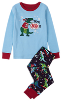 Hatley Children's T-Rex Pyjamas, Blue