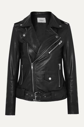 Deadwood Net Sustain Classic Biker Leather Jacket - Black