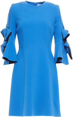 Roksanda Harlin Bow-embellished Crepe Mini Dress