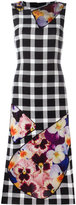 Christopher Kane check pansy panel dress - women - Silk/Polyamide/Polyester/Virgin Wool - 38