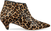 Eight Leopard-print calf hair ankle boots