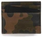 Jack Spade Men's Camo Leather Card Case - Green