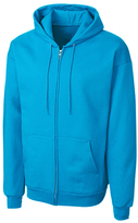 Clique Neon Blue Fleece Zip-Up Hoodie - Unisex