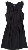 Mossimo® Womens Ruffle Shoulder Dress - Black