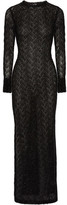 Sibling Metallic Knitted Maxi Dress - Black