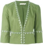 Tory Burch embellished jacket - women - Cotton/Linen/Flax/Polyester/Viscose - 8