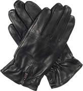 Dents Bilbury fleece-lined leather biker gloves