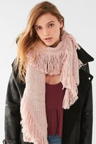 Urban Outfitters Fringed Knit Scarf