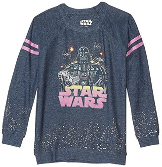 Chaser Disney Star Wars Darth Battle Cozy Knit Pullover (Little Kids/Big Kids) (Avalon) Girl's Clothing
