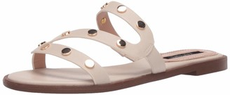 Kensie Women's Flat Sandal with Hardware Slide