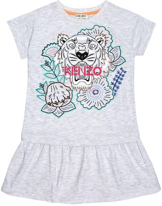 Kenzo Kids Printed cotton dress