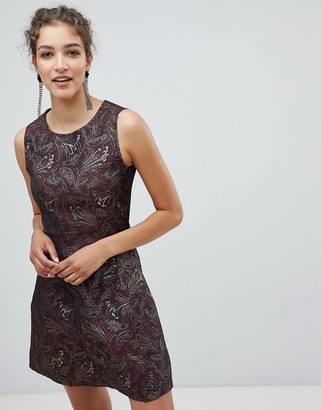 AX Paris Jacquard Skater Dress