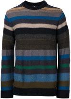 Paul Smith striped crew neck jumper - men - Nylon/Mohair/Wool/Merino - L