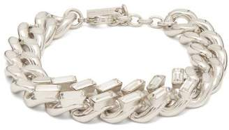 Saint Laurent Crystal-embellished Curb-link Chain Bracelet - Womens - Silver