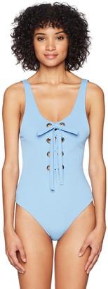 Mara Hoffman Women's Desa Lace-Up One Piece Swimsuit