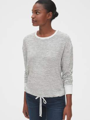 Gap Softspun Stripe Tie-Hem Top