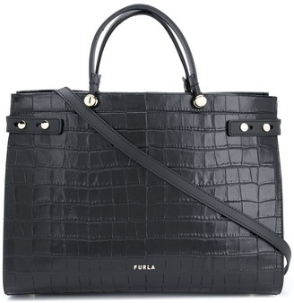 Furla Lady embossed style tote bag